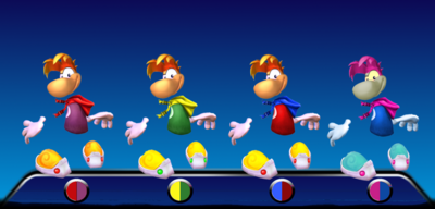 Rayman Color Palletes 1