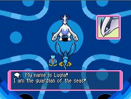 Lugia introducing itself