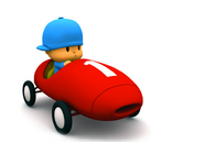 Pocoyo racing car
