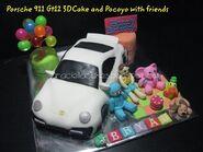 Okt 10 - Porsche n pocoyo 2 cake