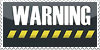 Warning stamp by niissi by Niissi