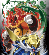 Unova starters evolution artwork