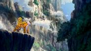 Raikou on a cliff