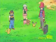 Ash and his friends meet Francesca