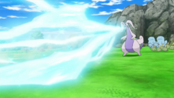 Ash Goodra Ice Beam
