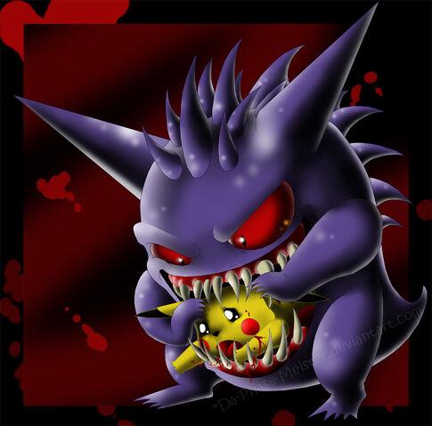 File:Gengar devours Pikachu XD by Da Phase Meister.jpg