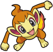 390Chimchar DP anime 8
