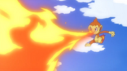 Ash Chimchar Flamethrower