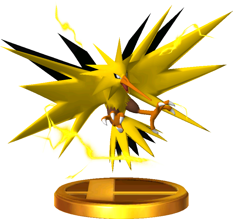 File:Zapdos trophy SSB3DS.png