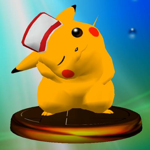 File:Pikachu (Smash 2) trophy SSBM.png