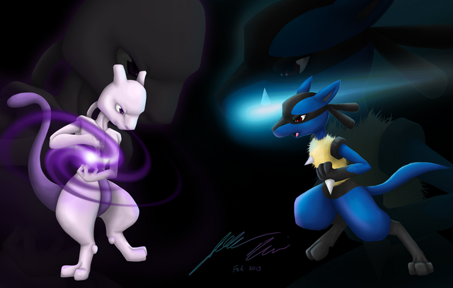 File:Mewtwo vs lucario final version by dragonflare36-d5vuqrr.png