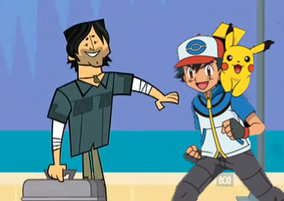 Chris with Ash & Pikachu