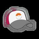Hat F Red White