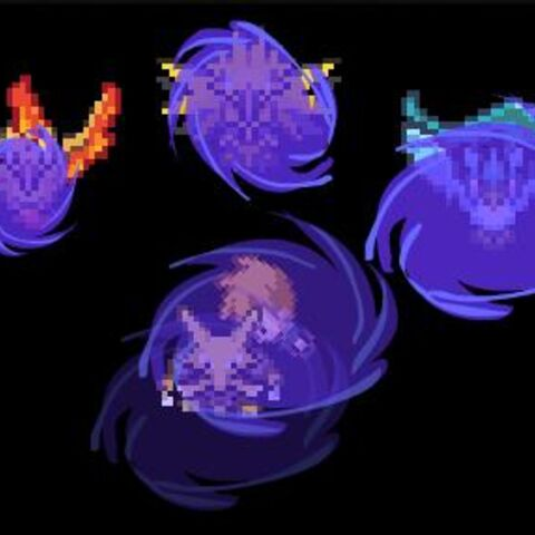 Gary's Alakazam using Gravity on the Legendary Birds, as they fall