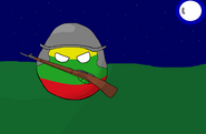 Lithuania in night