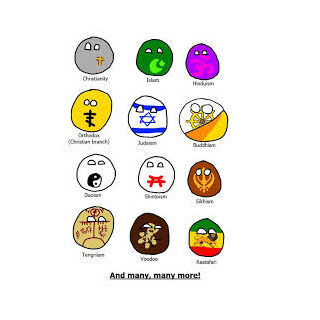 Buddhismball (second line, first-to-right) with other religionballs