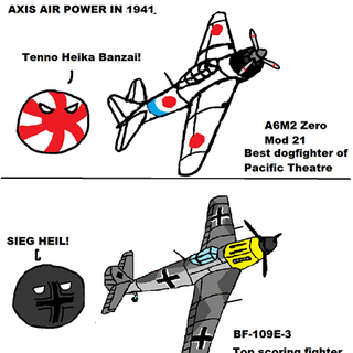 Luftwaffeball, IJNball and Regia Aeronauticaball with their most numerous planes of the war