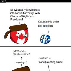 Quebec is of stubborn