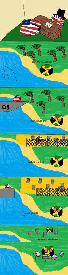 America refuels in Jamaica