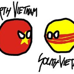 North Vietnam and south Vietnam