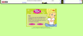 Polly Pocket website 2006 Flash screen