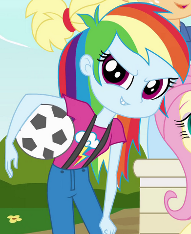 File:Rainbow Dash's young human counterpart.png
