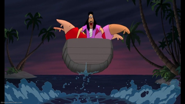 File:Captain Hook, Mr. Smee and Pirate Crew's defeat (2nd film).jpg