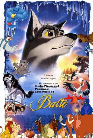 File:Simba Timon and Pumbaa's adventures of Balto poster.jpg