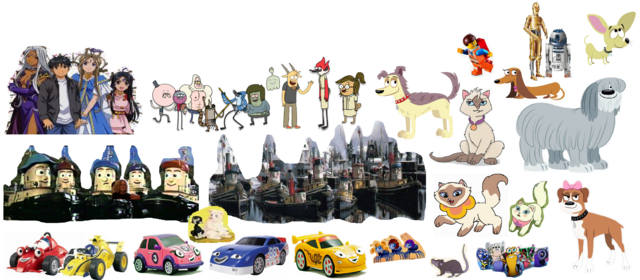 File:Roary the Racing Car and Theodore Tugboat's Adventures team (Hiatt Grey) Remake.png