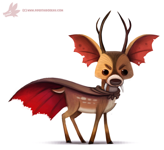File:Daily paint 1071 vampire deer they exist by cryptid creations-d9el7p8.png