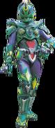 Green Chameleon Warrior