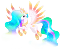 Princess celestia rainbowfied by moonlightprincess002-d7p288m