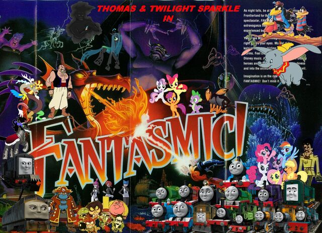 File:Thomas and Twilight Sparkle in Fantasmic (Disneyland Version) Poster 2.jpg