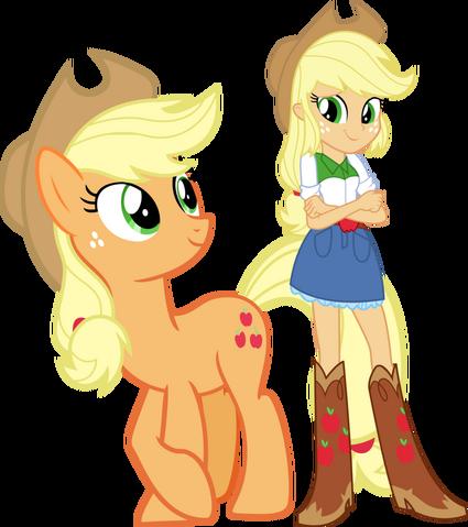File:Applejack and applejack by hampshireukbrony-d6mtmym.png
