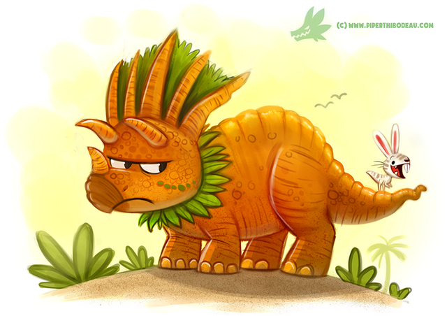 File:Daily paint 1201 tricarrotops by cryptid creations-d9u6681.png