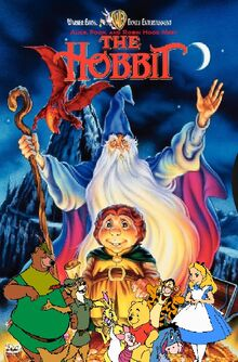 Alice, Pooh, and Robin Hood Meet The Hobbit poster