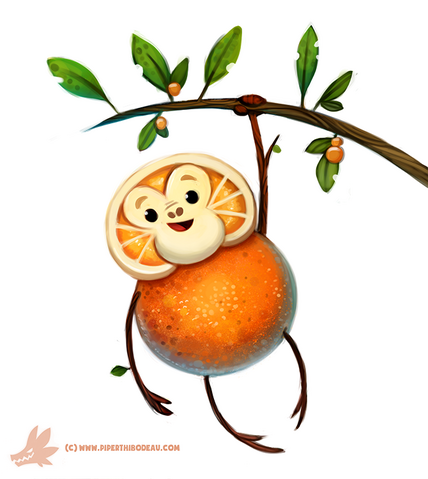 File:Daily paint 1146 orangeutan by cryptid creations-d9nile0.png
