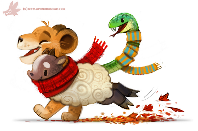 File:Daily paint 1080 chimera by cryptid creations-d9fo5us.png