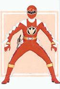Red Dino Ranger Super Dino Mode