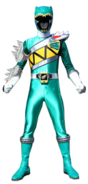 Dino Charge Green Ranger in Dino Steel
