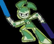 Jenny (dual welding Lightsabers)