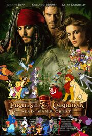 Pooh's Adventures of Pirates of the Caribbean Dead Man's Chest Poster