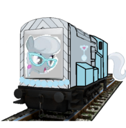 MLP Silver Spoon as a thomas Character