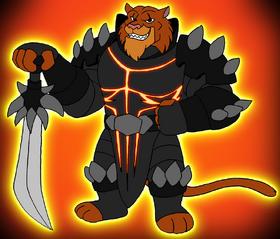 Heath Lynx in battle gear