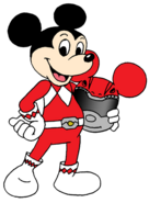 Mickey Mouse as a Power Ranger