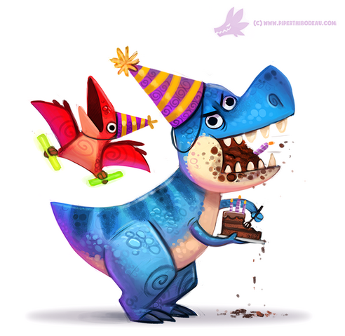 File:Daily paint 1087 birthdaysaurus by cryptid creations-d9ggymp.png