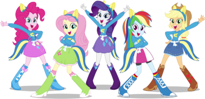 Mlp eqg wondercolts pose by caliazian-d6r9m1v