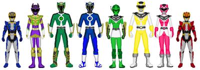 Philmac, Silver, Cosmo, Blaze, Riku, Kairi and Megaforce Cubs