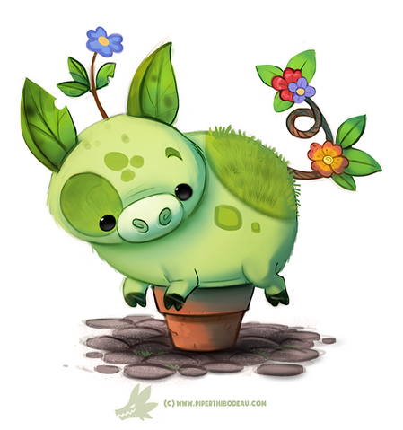 File:Daily paint 1281 pot bellied pig by cryptid creations-da3t7lh.png