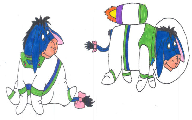 File:Eeyore in his space ranger uniform in 2 poses by yakkowarnermovies101-da0dhjp.jpg